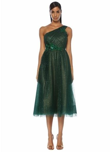 Marchesa Notte Elbise Yeşil